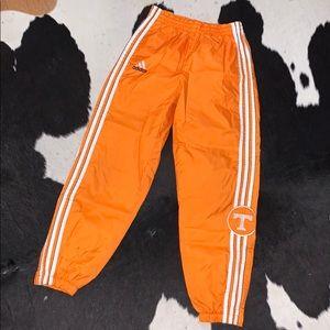 Vintage 80's UT Vols Adidas nylon track pants